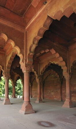 architectural detail of the Red Fort in Delhi, India photo