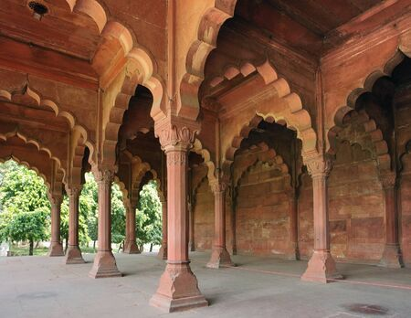 architectural detail of the Red Fort in Delhi, India