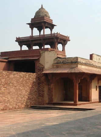 fatehpur sikri: Architectural detail around Fatehpur Sikri, a city in Uttar Pradesh, India
