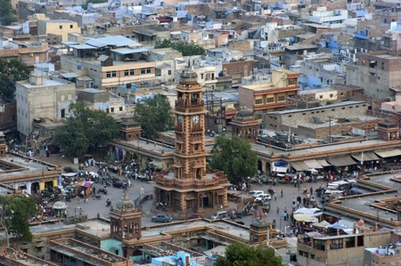 urbanized: aerial view of Jodhpur, a city in Rajasthan, India Editorial