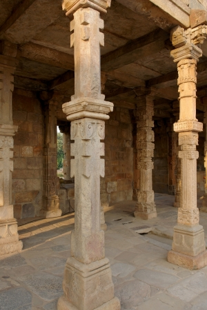 detail of the Qutb complex in India photo