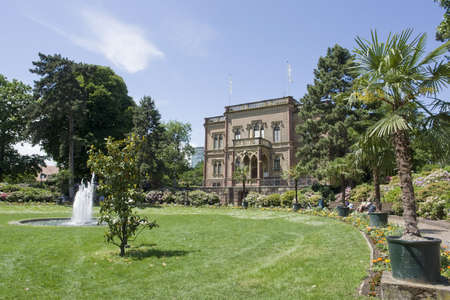 mansion with park in Freiburg im Breisgau  Germany  named Colombischloessle Stock Photo - 13970257
