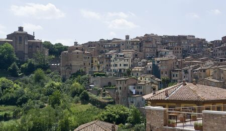 sienna: aerial view of Siena, a city in Tuscany  Italia