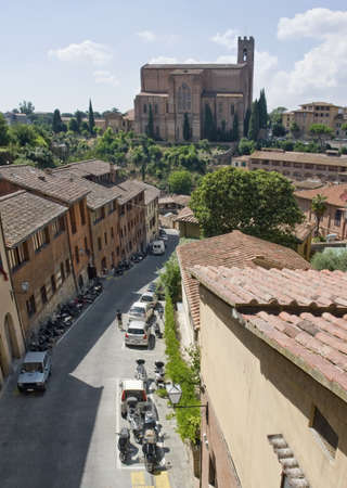 impression of Siena, a city in Tuscany  Italy  photo