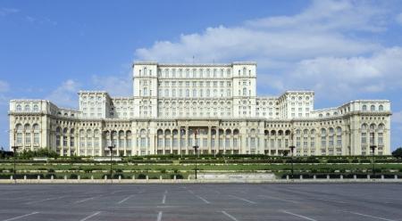 bucarest: Palais du Parlement � Bucarest, une ville situ�e en Roumanie Banque d'images