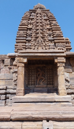 karnataka: historic temple at Pattadakal in Karnataka, India Stock Photo