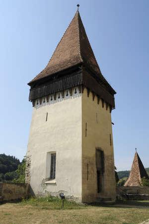 the fortified church of Biertan in Romania photo