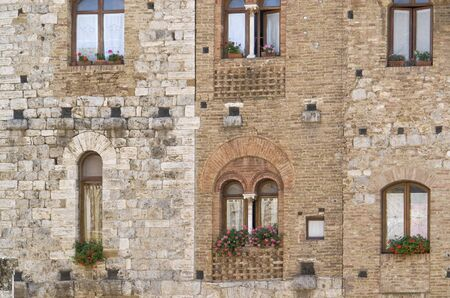 architectural detail of San Gimignano, a town inTuscany  Italy  photo