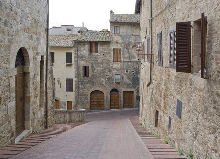Impression of San Gimignano, a town inTuscany  Italy  photo