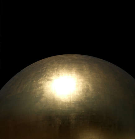 detail of a glossy golden sphere in black back Stock Photo - 14526526