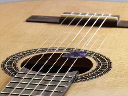 resonating: detail of a classic guitar Stock Photo