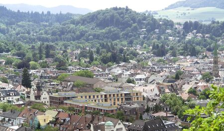 high angle view of Freiburg im Breisgau, a city in Baden-Wuerttemberg  Germany  in sunny ambiance Stock Photo - 15389971