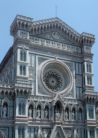 polychrome: part of the Florence Cathedral in Florence  Italy  Stock Photo
