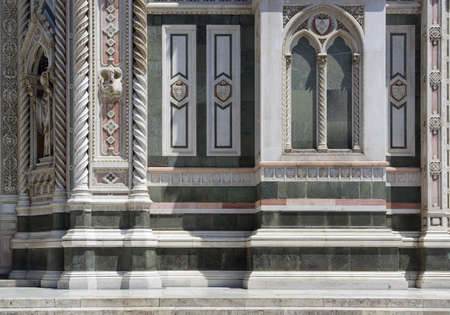 ornamented: part of the Florence Cathedral in Florence  Italy  Stock Photo