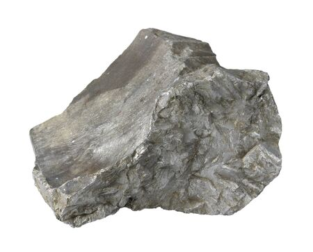 rocks and minerals: slag stone in white back Stock Photo