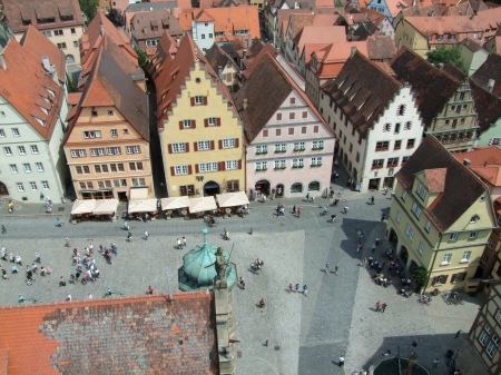Aerial View Of Rothenburg Ob Der Tauber, A Town In Middlefranconia town