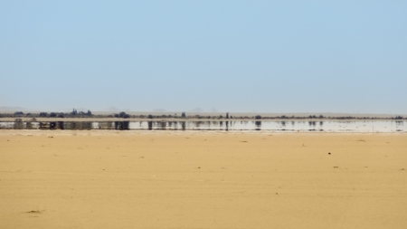 a mirage in the Libyan Desert
