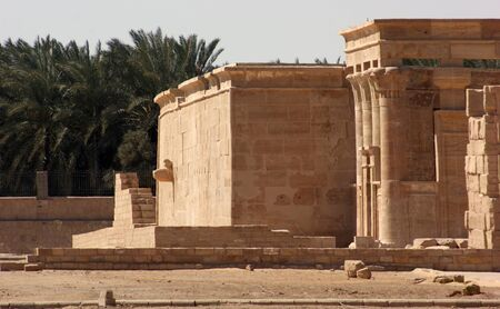 desert oasis: the Hibis temple located in Hibis, a ancient metropolis in Egypt
