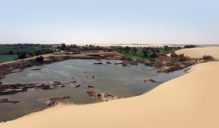scenery at Dakhla Oasis in Egypt photo