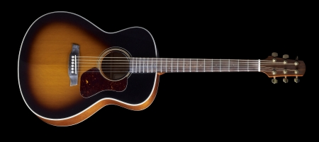 inlays: Acoustic Guitar in black back