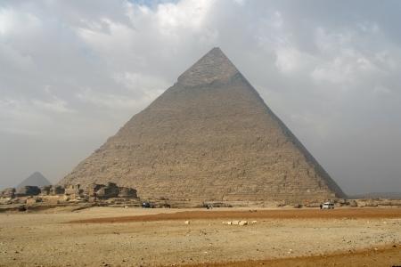 Pyramid of Khafre at Giza Necropolis in Egypt photo