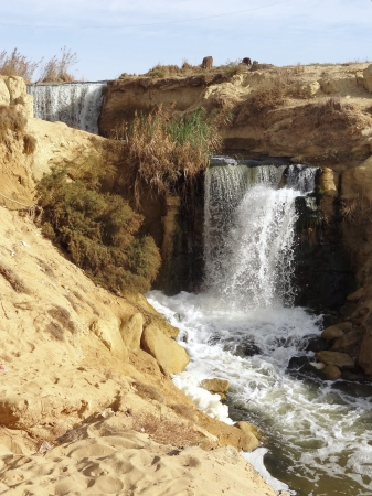 the Wadi Elrayan waterfalls in Egypt Stock Photo - 17237039