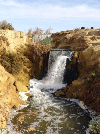 the Wadi Elrayan waterfalls in Egypt Stock Photo - 17237020