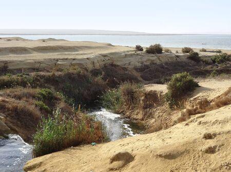 the Wadi Elrayan waterfalls in Egypt Stock Photo - 17237025
