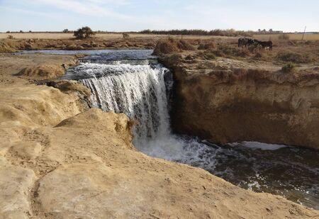the Wadi Elrayan waterfalls in Egypt Stock Photo - 17237029