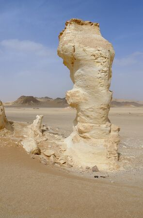 rock formation: the white desert with rock formation in Egypt