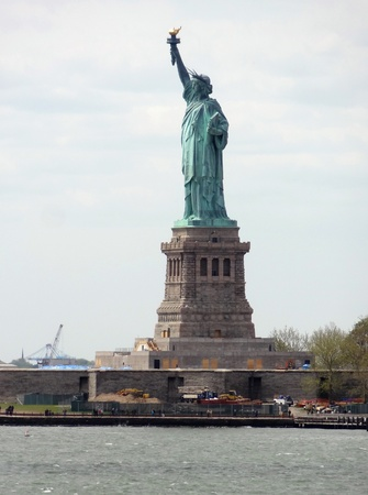 liberty island: the Statue of Liberty on Liberty Island in New York Harbor Stock Photo