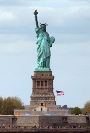 liberty island: la Statua della Libert� su Liberty Island a New York Harbor