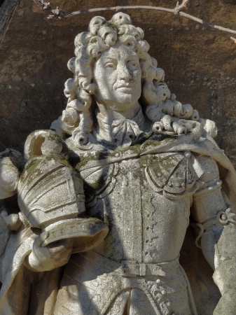 ernest: stone sculpture detail at the Marienburg Castle in Lower Saxony  Germany  showing Ernest Augustus, Elector of Brunswick-L