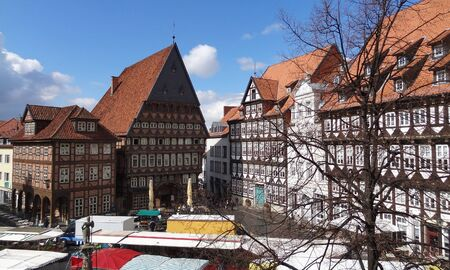 guild hall: outdoor scenery in Hildesheim, a city in Lower Saxony, Germany
