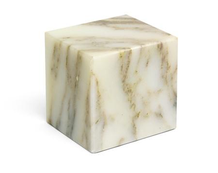 Ein Marmor Steinwürfel in Weiß zurück Standard-Bild - 18178912