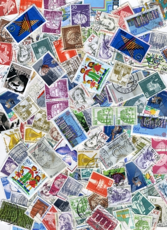 background with lots of old german postage stamps Stock Photo - 18171644