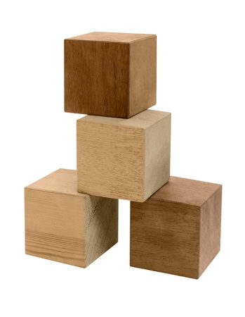 midsagittal: some wooden cubes in white back