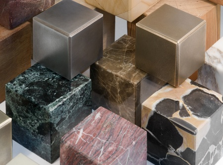 lots of various cubes made of different materials photo