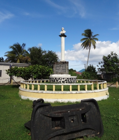 christopher: Christopher Columbus Memorial at Guadeloupe (Caribbean, France) Stock Photo