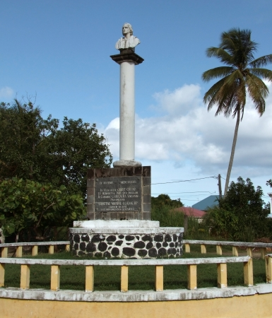 christopher columbus: Christopher Columbus Memorial in Guadeloupe