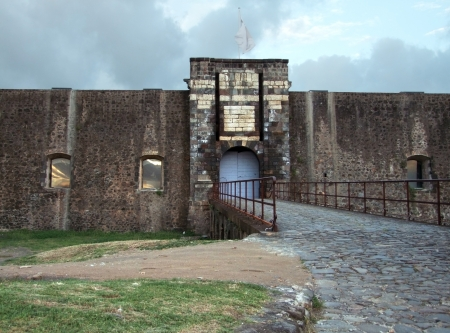 fortification: historic fortification at Guadeloupe (french overseas department)