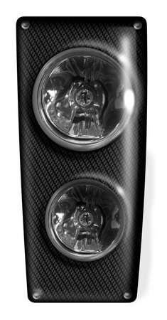 headlamp: symbolic digital realistic illustration of a modern headlamp in white back