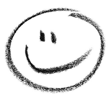Buntstift gemalt smiley in Weiß zurück Standard-Bild - 18935122