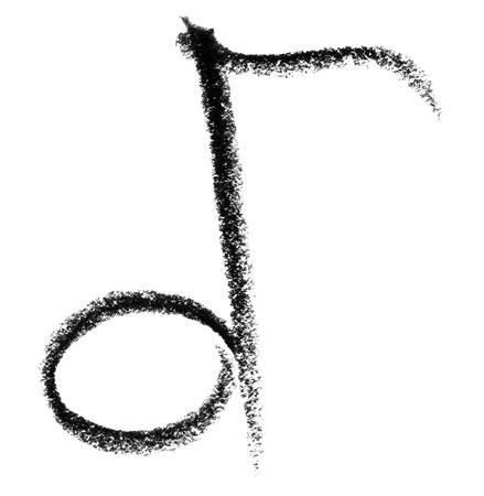 tonalit�: crayon peint note dans le dos blanc Banque d'images