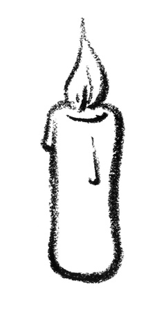 eye catcher: crayon-sketched candle