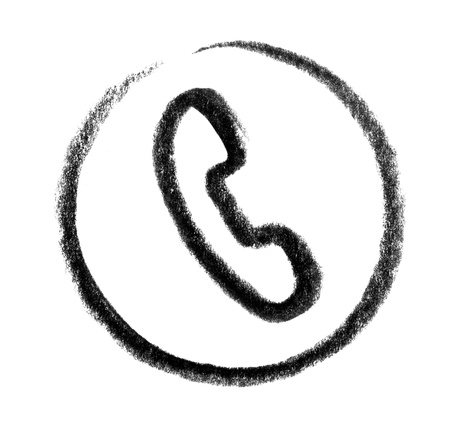 snappy: crayon-sketched illustration of a telephone
