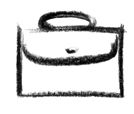 raspy: crayon-sketched illustration of a dispatch case Stock Photo