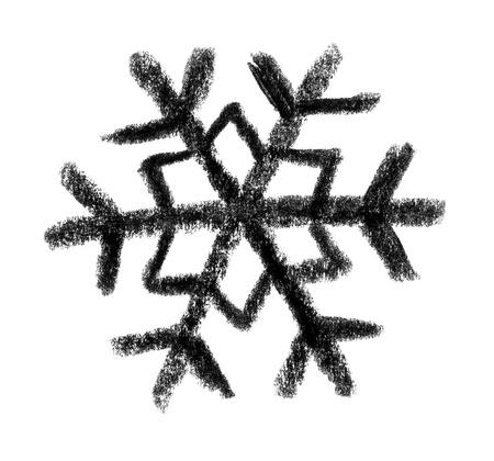 raspy: crayon-sketched illustration of a snowflake