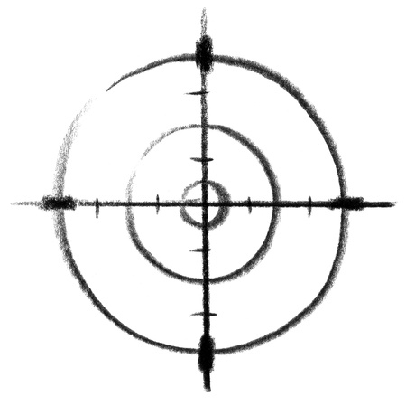 raspy: crayon-sketched illustration of a finder sight
