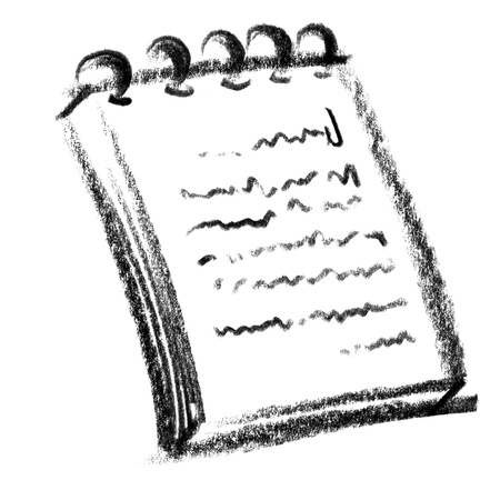 scratchpad: crayon-sketched illustration of a scratchpad